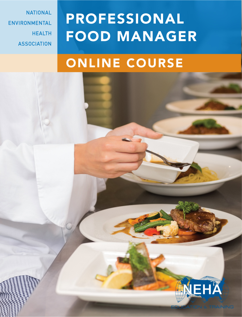 Brand new graphics, design, and videos. Includes assessments and knowledge  checks to prepare for the exam. Professional Food Manager Online Course