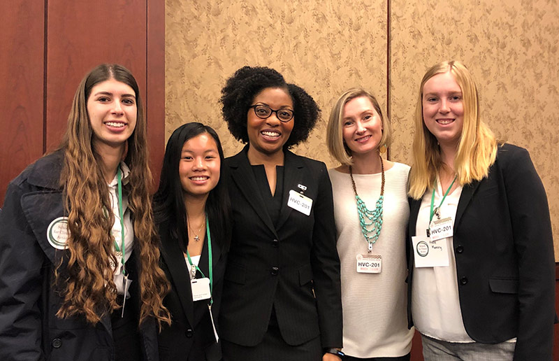 Dr. Natasha DeJarnett and students at the S4CA Summit in Washington D.C.