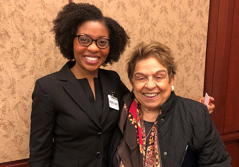Dr. Natasha DeJarnett and Representative Donna Shalala (D-FL) at the SC4A Summit