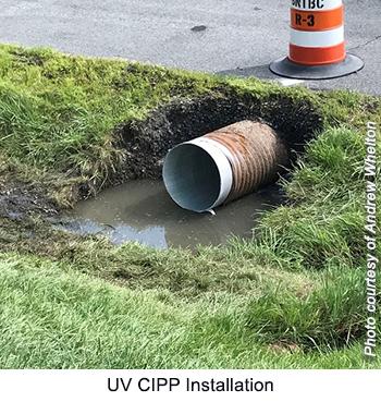 UV CIPP Installation