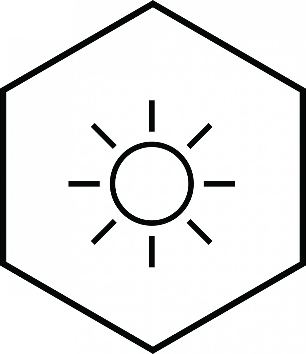 Climate Change Icon with sun