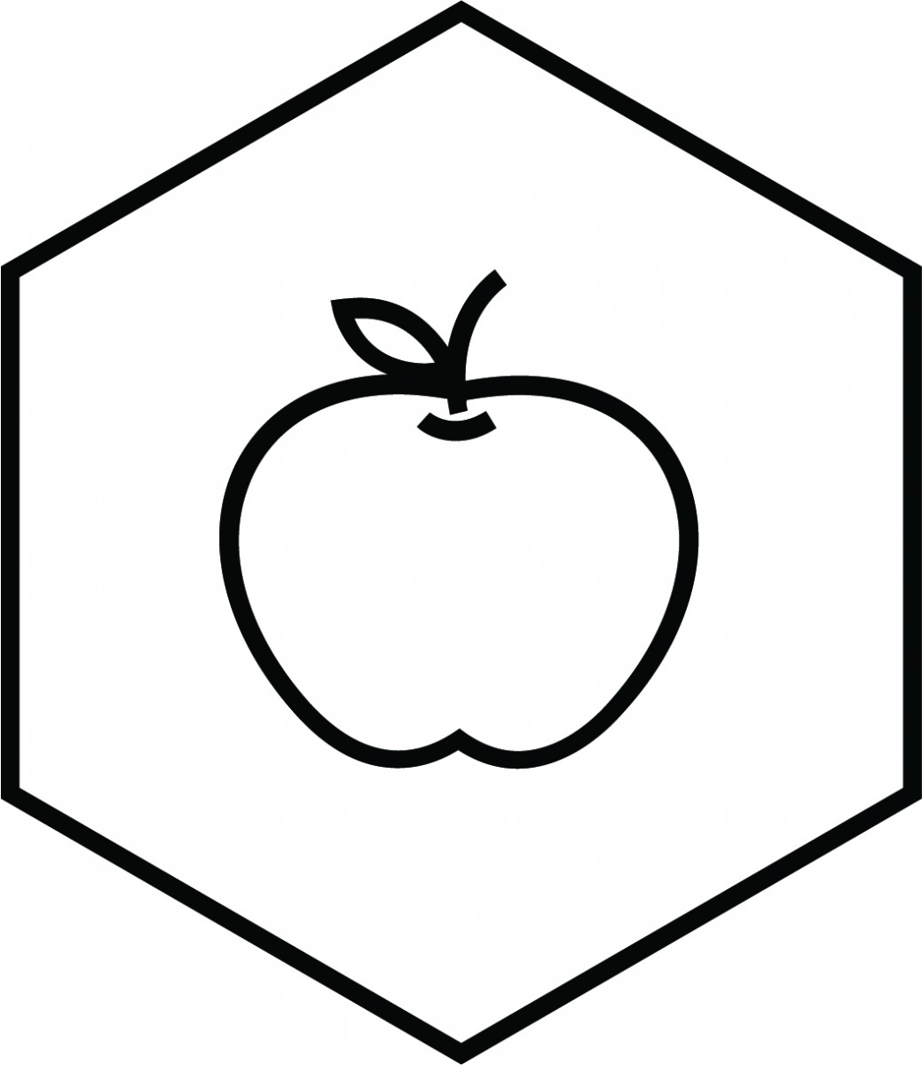 Food Safety Icon with apple