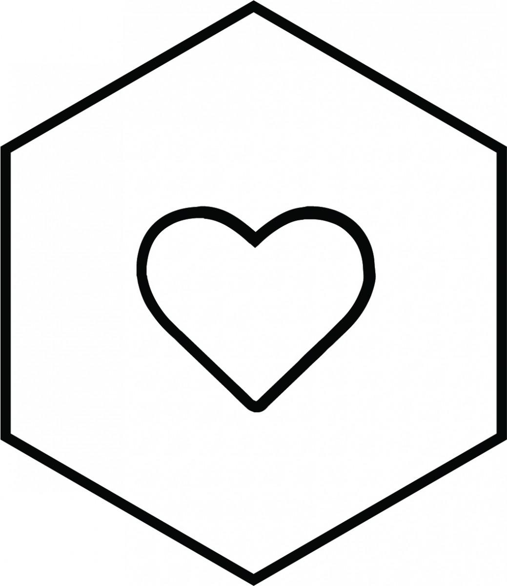 Informatics icon with heart