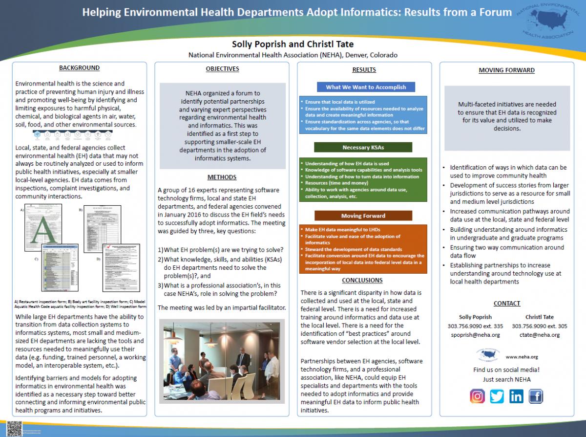 Helping Environmental Health Departments Adopt Informatics Poster