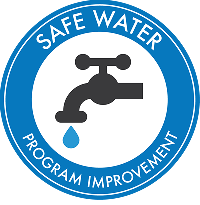 Safe Water Program logo - faucet with water droplet