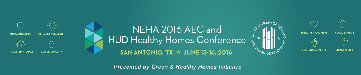 NEHA 2016 AEC and HUD Healthy Homes Conference Banner