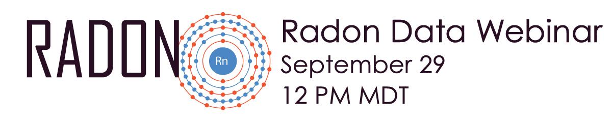 Radon Data Standardization Webinar Banner