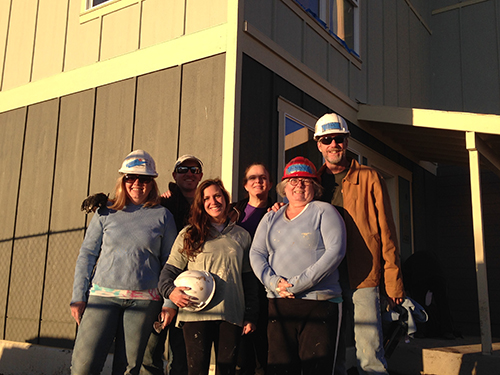 NEHA staff volunteering at Habitat for Humanity