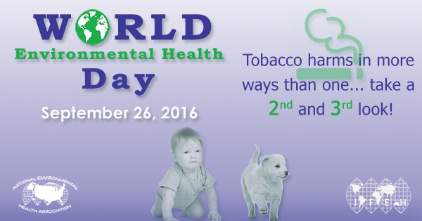 World Environmental Health Day Graphics with Infant and Puppy