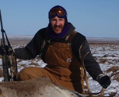 Leif Albertson with caribou