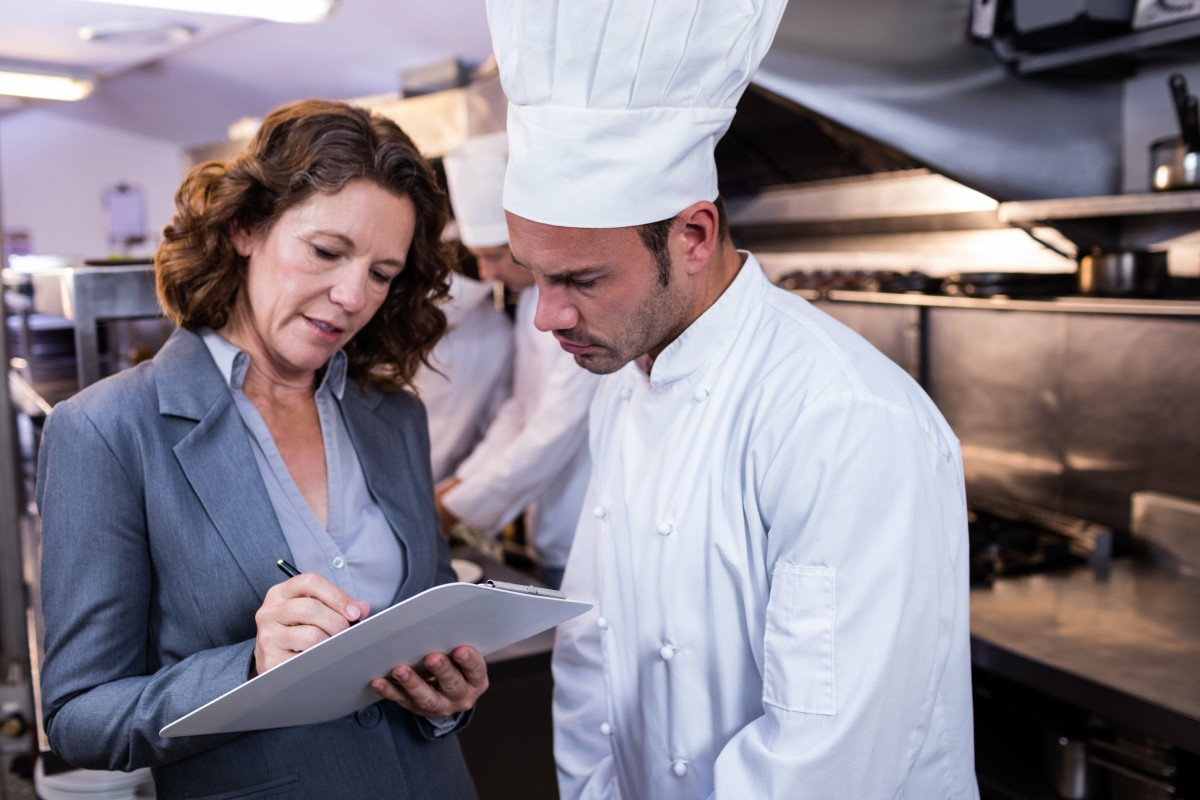 (NEHA's) Certified Foodborne Outbreak Investigator (CFOI)  credential: image of chef and investigator