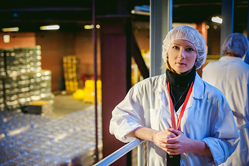 woman wearing hairnet