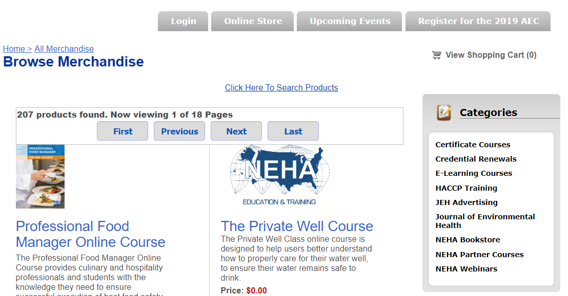 NEHA CERT Online Education