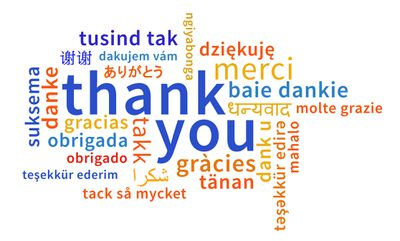 thank you written in many different languages
